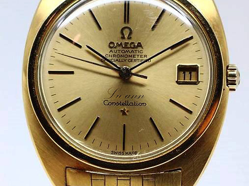 Omega Vintage Constellation Calendar Gold Brick Bracelet