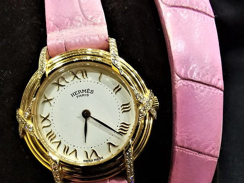 Hermes Ruban Diamond Ladies Watch