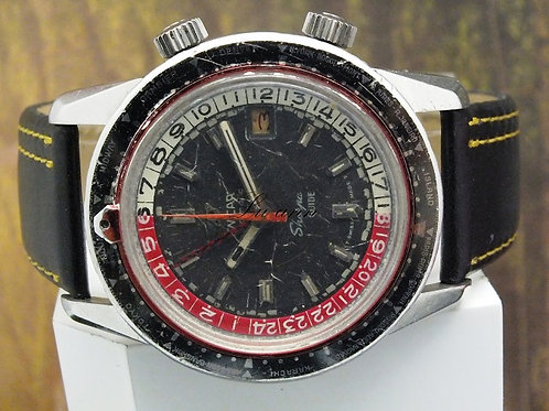 Enicar Sherpa Guide GMT Vintage World Time Automatic