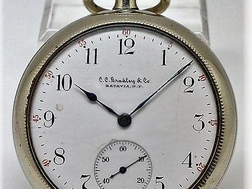 C.C. Bradley & Co by Elgin Vintage Pocket Watch