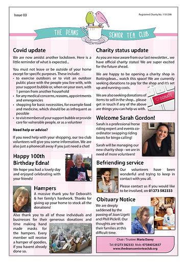 Deans Tea Club- Newsletter 03 - November