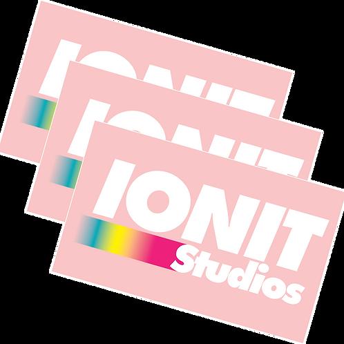 IO Pink Gradient Logo Sticker 3-Pack