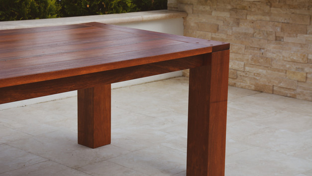 OUTDOOR IPE TABLE