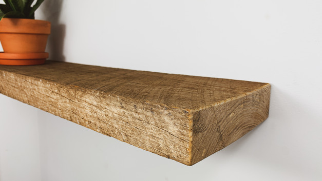 ROUGH OAK FLOATING SHELF