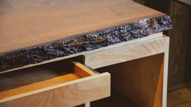 LIVE EDGE RECEPTION DESK