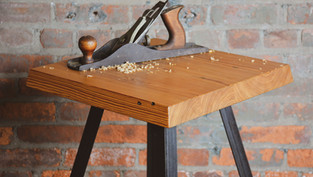 YELLOW PINE SIDE TABLE