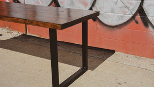 STAINED YELLOW PINE TABLE