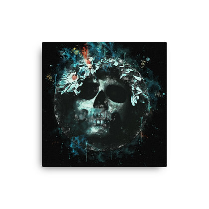 Canvas Water Skull