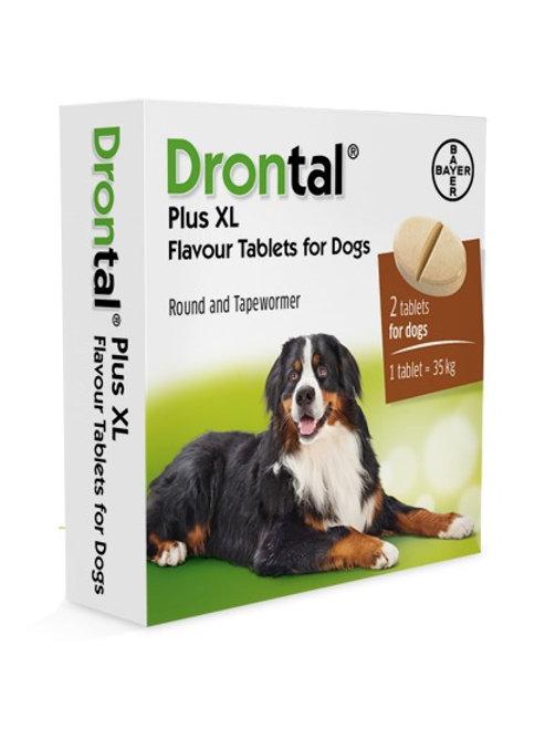 Drontal Plus XL Antiparasitario Interno tableta de 35 Kg