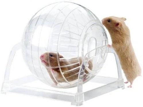 Bola esfera de Ejercicio para Hamster de 18 cm de diámetro con base.