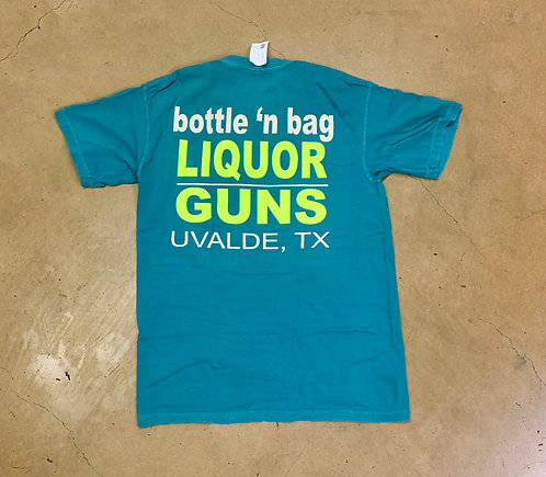 Liquor 'n Guns Emerald Pocket Tee