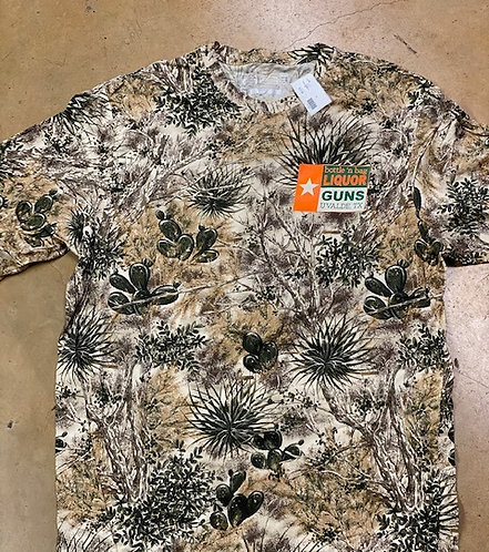 Camo print shirt with logo