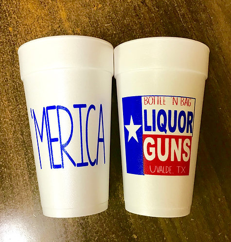 LIQUOR 'n GUNS - 'MERICA 20 oz Cup