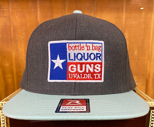 LIQUOR N GUNS HEATHER CHARCOAL/BLUE TINT CAP