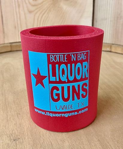Liquor 'n Guns -Old School Foam Koozie