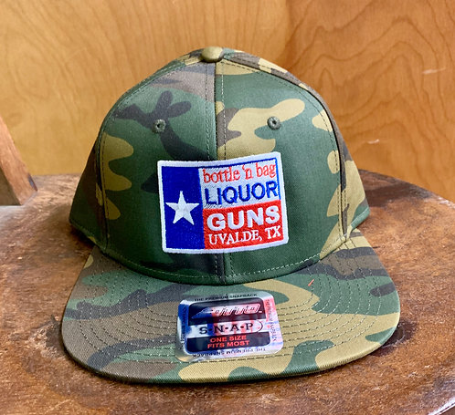 Liquor N Guns-Otto Camo Cap (Texas Flag logo)
