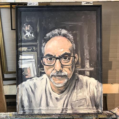 Self portrait in studio 2020