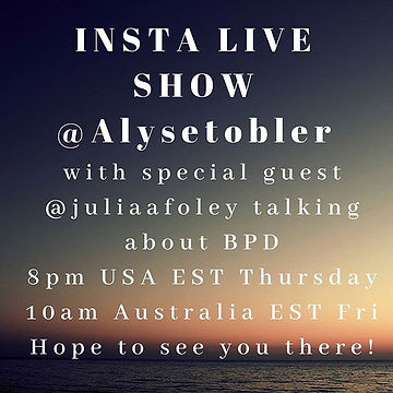 Todays insta live show with _juliaafoley