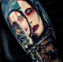 570Tattooing Co Original Ink by Ron Marilyn Manson Portrait Concep