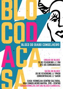 Cartaz do bloco do Diabo Conselheiro