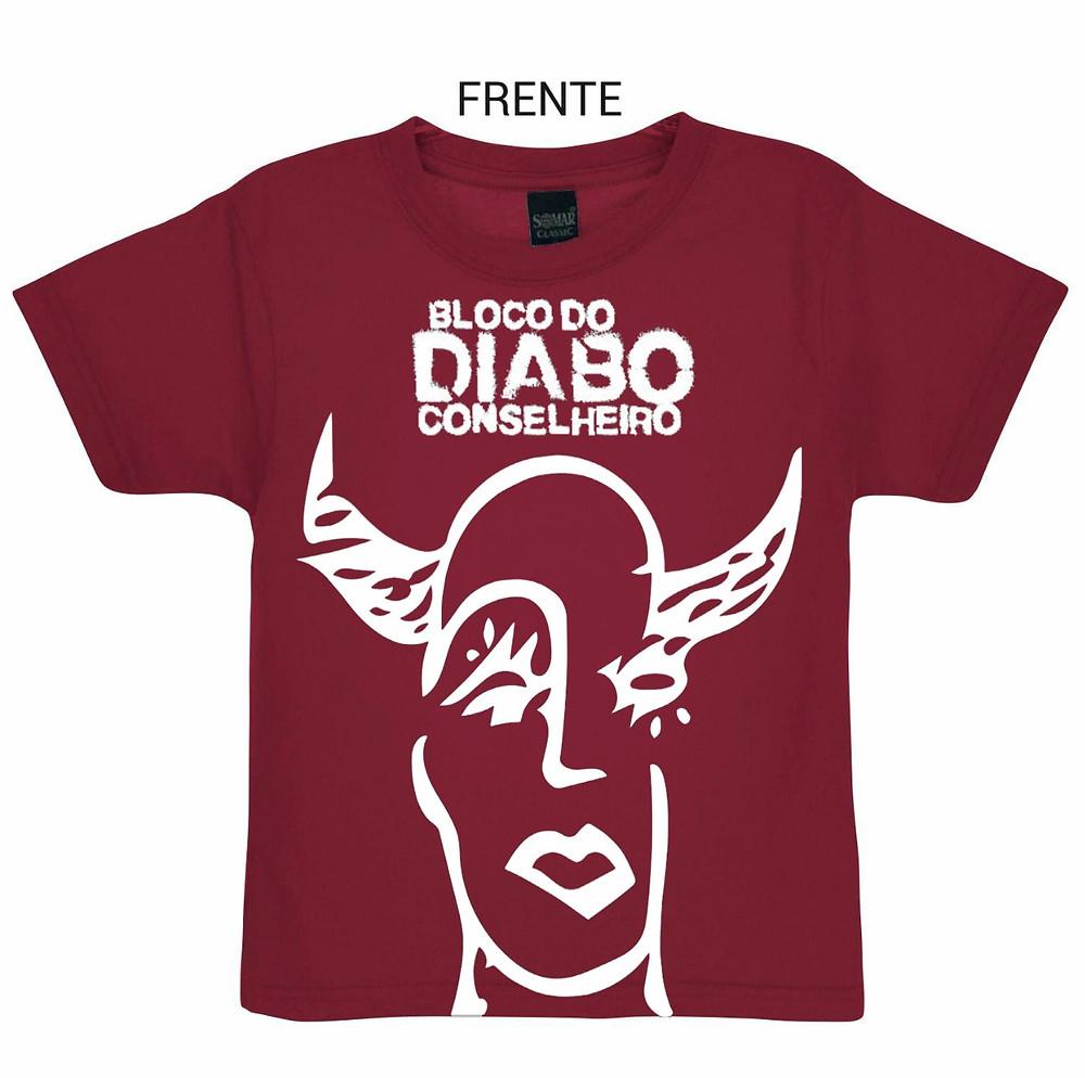 Camiseta do Bloco do Diabo Conselheiro