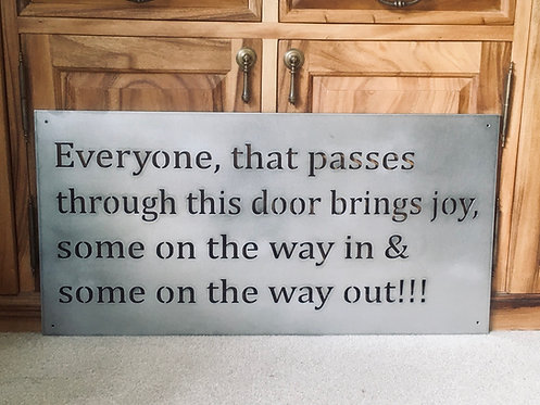 Everyone that passes through this door