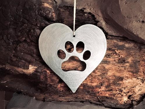 Pet Paw Print Heart