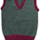 Thumbnail: Child's Moss tank top with mulberry trim