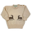 Thumbnail: Cream button-necked jersey with deer