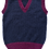 Thumbnail: Child's True navy tank top with mulberry trim