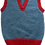 Thumbnail: Cerulean tank top with cherry trim