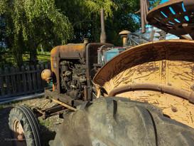 Le tracteur de l'arrière arrière grand-père