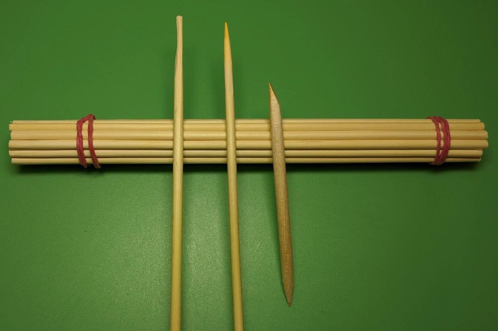 Shaped Pegwood Sticks