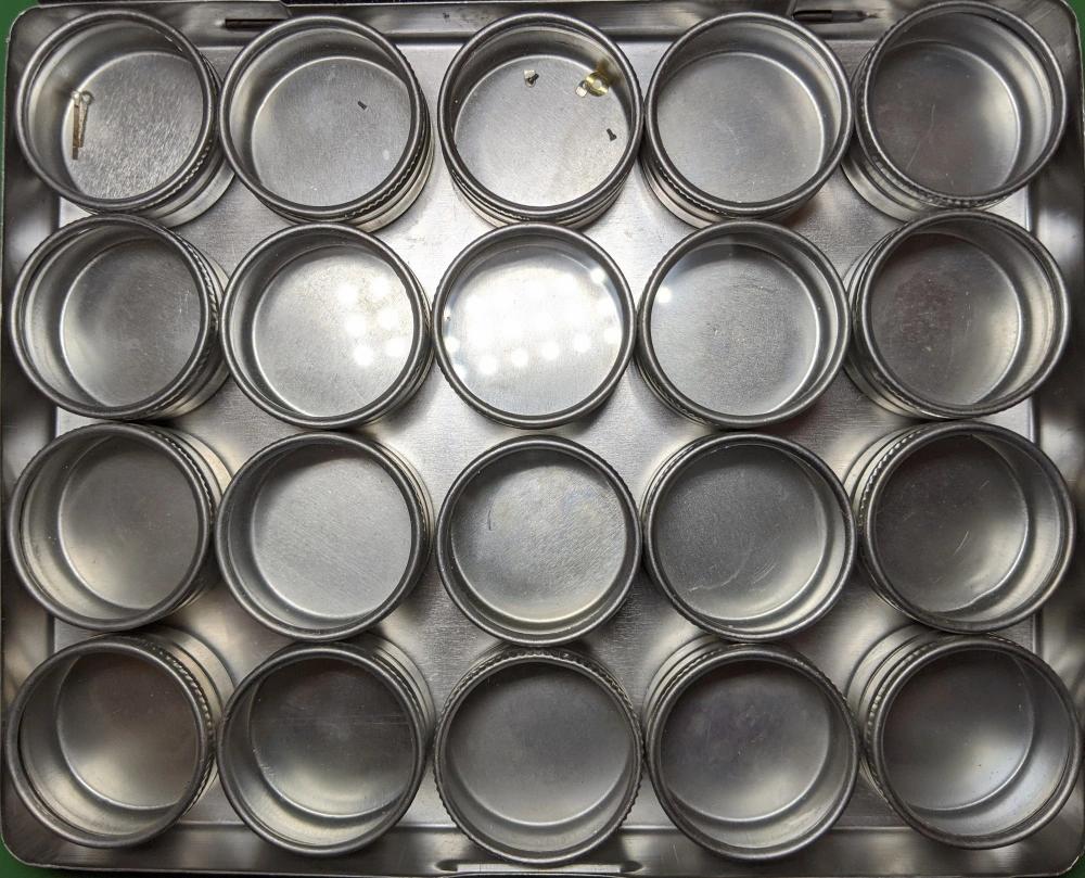 Aluminium Pots in an Aluminium Box