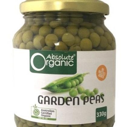 Garden Peas – 330g Jar – Organic