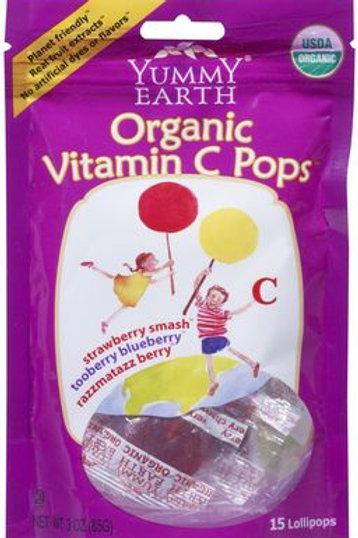 Organic Yummy Earth Lolly Pops