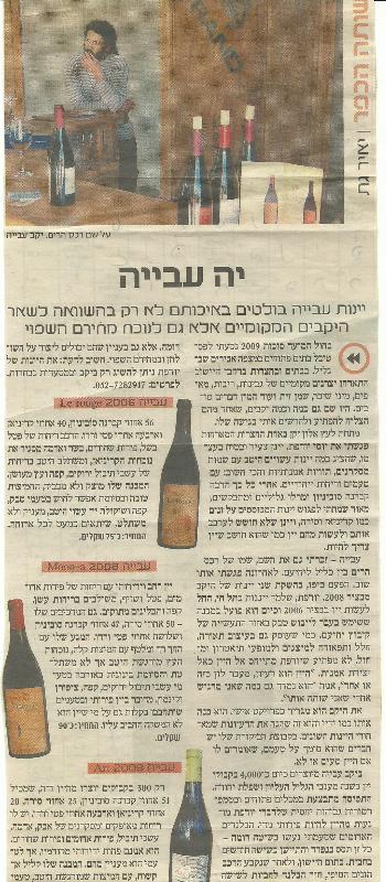 יה עבייה- יאיר גת, ישראל היום, 14.1.2011