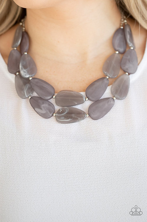 Colorfully Calming - Silver - Paparazzi