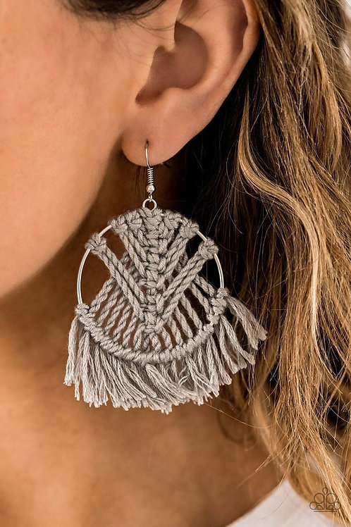 All About Macrame - Silver - Paparazzi