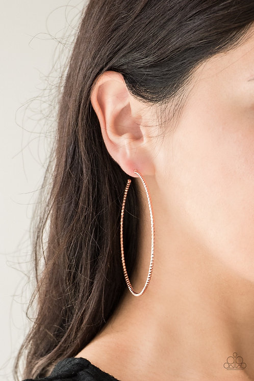 Hooked On Hoops - Copper - Paparazzi