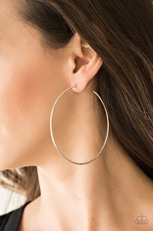 Hooked On Hoops - Rose Gold - Paparazzi