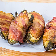 Bacon Wrapped Stuffed Jalepenos (Smoked)
