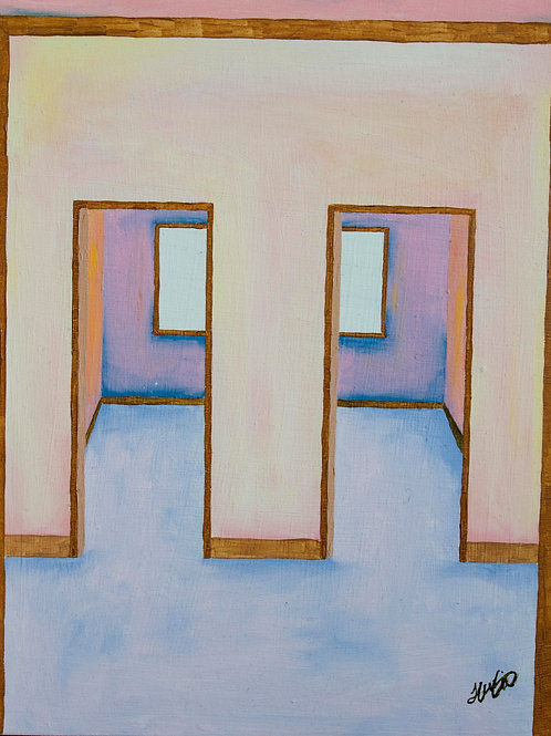 Double Doors, Oil Painting.