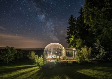 in the bubble under the stars