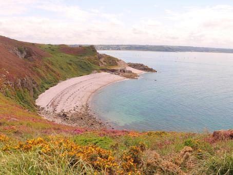 Le Port d'Erquy, les sentiers de randonnée bretons et la plage de Lourtuais.