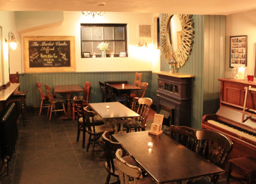 The Market Vaults seating area