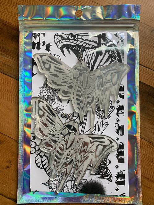 YeahRightOkay Laser Cut Acrylic Butterfly Skeleton Earrings - 10 Pack