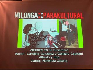 Bailamos en la Milonga Parakultural en el Salón Canning!