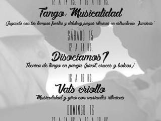 Intensivos de Tango-Madrid Julio 2017...!!!