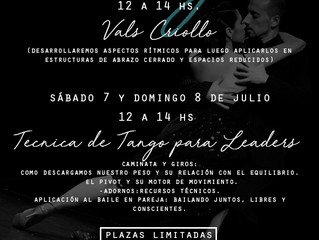 Talleres de Verano - Tango en Madrid!